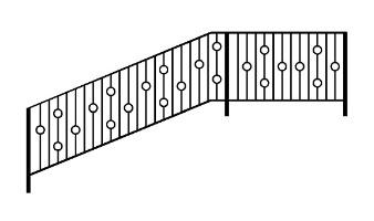 نرده راه پله